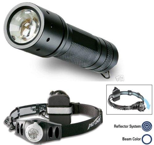 Coast Led Lenser Focus 7438 + 7468 Headlamp Combo New