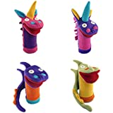 Cate And Levi Fantasy And Imagination Hand Puppets-Set Of 4 Includes 2 Unicorns And 2 Dragons (100% USA Polar Fleece)