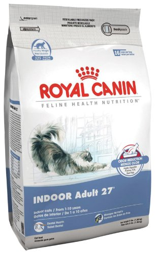 best dry cat food reviews royal canin dry cat food indoor adult 27 formula 15 pound bag. Black Bedroom Furniture Sets. Home Design Ideas