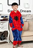 Us Top (Spider Man) Children's Halloween Costumes Kids Kigurumi Onesie Animal Cosplay (105(height:45.27-49.2))