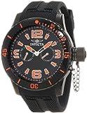 Invicta Men's 1795 Specialty Black Textured Dial Black Silicone Watch