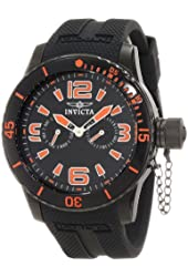 Invicta Men's 1795 Specialty Black Textured Dial Black Silicone Watch