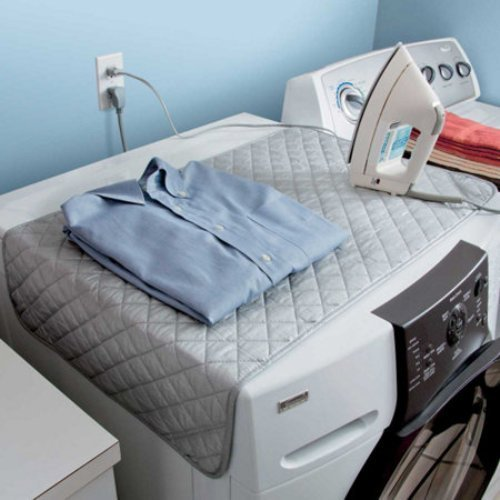 MareLight Magnetic Ironing Mat Laundry Pad 19 x 33.5 Inch Quilted Ironing Blanket Grey Tabletop Ironing Pad Use on Top of Washer / Dryer or Any Flat Space! (Space Saving Ironing Mat compare prices)