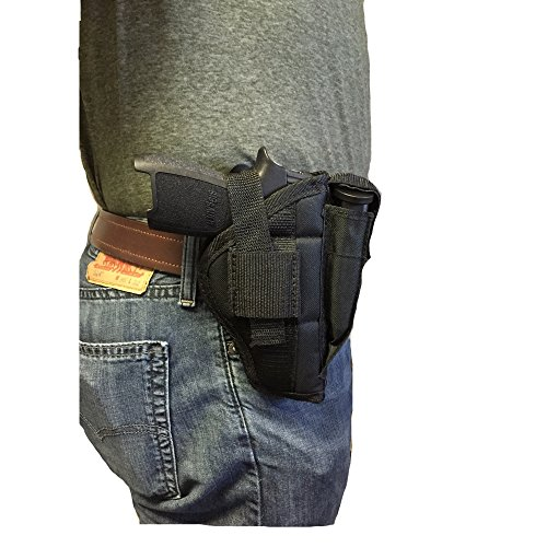 "Details for Nylon Belt or Clip on Gun Holster Fits Beretta U22 Neos 22LR With 4.5"" Barrel by Shaver Industries"