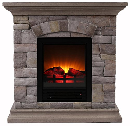 ok lighting h 134s fireplace with faux stone light petite muticolor new ebay. Black Bedroom Furniture Sets. Home Design Ideas