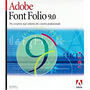 Adobe Font Folio 10 for Mac and PC (1 cd)
