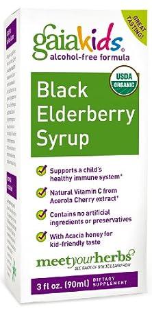 buy Gaia Kids Black Elderberry Syrup, 3-Ounce Bottle