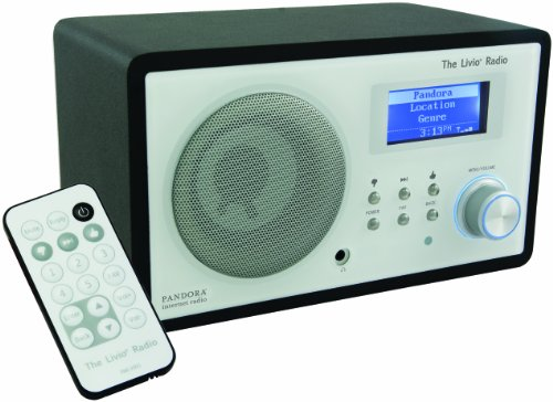 Livio Internet Radio Featuring Pandora (WiFi and Ethernet, Silver)