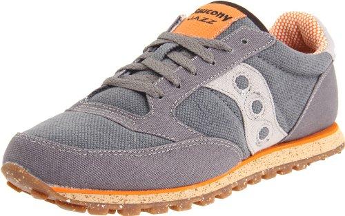 Saucony Originals Men's Jazz Low Pro Vegan Sneaker,Charcoal/Orange,10 M US