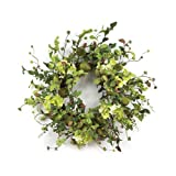 Melrose International Pear Hydrangea and Berry Polyester Wreath