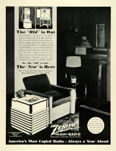 Cheap 1936 Ad Zenith Long Distance Radio End Table Model Musical Instrument Chicago – Original Print Ad (B005NEOE1E)