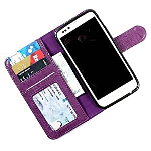 i-KitPit PU Leather Wallet Flip Case Cover For Samsung Galaxy S4 (Purple)