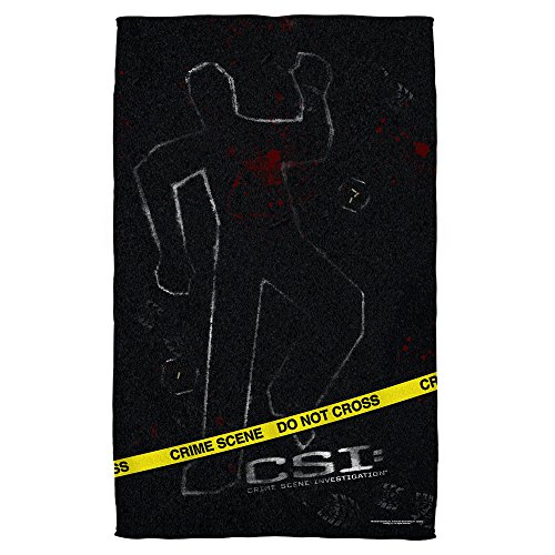 CSI: Las Vegas Crime Action TV Series Crime Scene Evidence Beach Towel