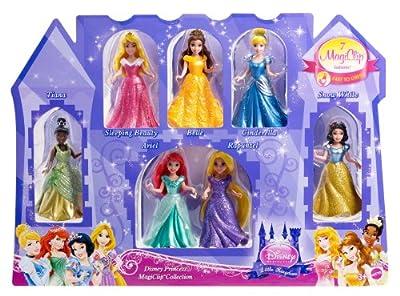 Disney Princess Little Kingdom Magiclip 7-Doll Giftset by Mattel