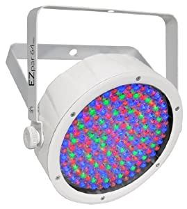 Chauvet Lighting EZpar64 RGBA White Battery Operated Par Style LED Wash with IRC Compatibility - White