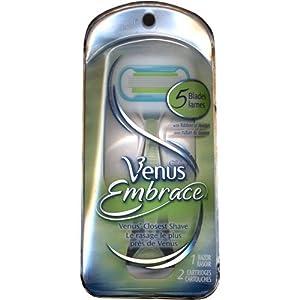 Gillette Venus Embrace Women's Razor 1 Razor Handle and 2 Razor Blade Refills