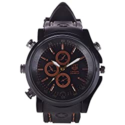 M MHB Spy Wrist Watch Hidden Audio/video Recording .Sold by Lucky Stores.While recording no light Flashes.Sports Wrist Watch Camera Inbuild 4GB memory.