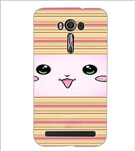 PrintDhaba Owl D-4463 Back Case Cover for ASUS ZENFONE 2 LASER ZE550KL (Multi-Coloured)