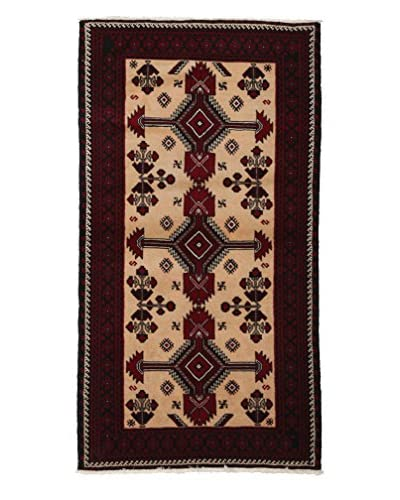 "Solo Rugs Authentic Persian Tribal Rug, Peach, 3' 3"" x 6' 1"""