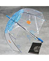 Tree Design Clear Dome Bubble Umbrella with Match Color Handle and Bonus Drawstring Storage Bag