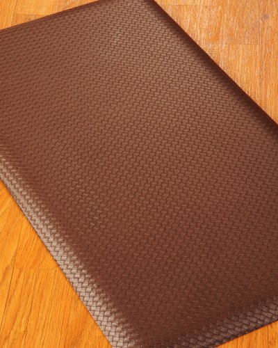 "NaturalAreaRugs ""Venezia"" Anti Fatigue Comfort Mat – 20″ x 36″ Chocolate"