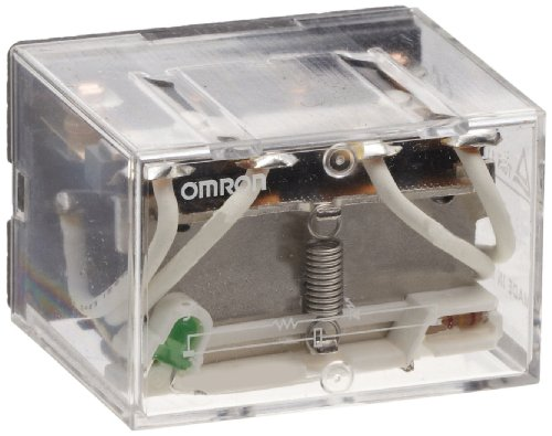 Omron Ly2N-Dc24 General Purpose Relay, Led Indicator Type, Plug-In/Solder Terminal, Standard Bracket Mounting, Single Contact, Double Pole Double Throw Contacts, 36.9 Ma Rated Load Current, 24 Vdc Rated Load Voltage
