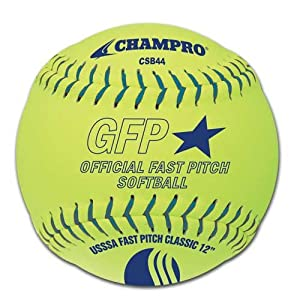 Buy Champro Synthetic USSSA Fast Pitch Ball, Optic Yellow, 12-Inch (Pack of 12) by Champro