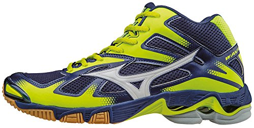 Mizuno Wave Bolt Mid Scarpe da Pallavolo, Uomo, Blu (Twilightblue/White/Safetyyellow), 42 1/2