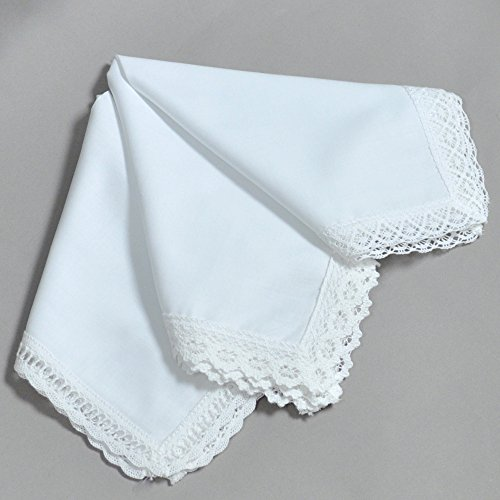 Bumblebee linens buy bumblebee linens products online in oman white wedding bridal ladies cotton lace handkerchiefs hankie hanky set of 3 by bumblebee linens junglespirit Choice Image
