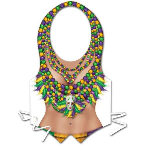 Pkgd Plastic Mardi Gras Vest Party Accessory (1 count) (1/Pkg) - 1