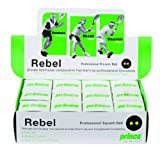 Prince Rebel Double Yellow Dot Squash Balls - 1 Dozen Box
