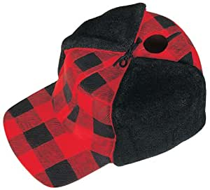 Red Carpet Studios Red Plaid Hunter Cap Hat Bird House