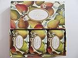 Saponificio Artigianale Fiorentino Pera Pear Set Of Soaps 3 X 7.05 Oz Boxed