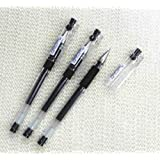 Pilot Hi-tec-c Gel Rolling Ball Pens, Ultra Fine Point,rubber Grip Type,-0.3mm-black Ink-value Set of 3