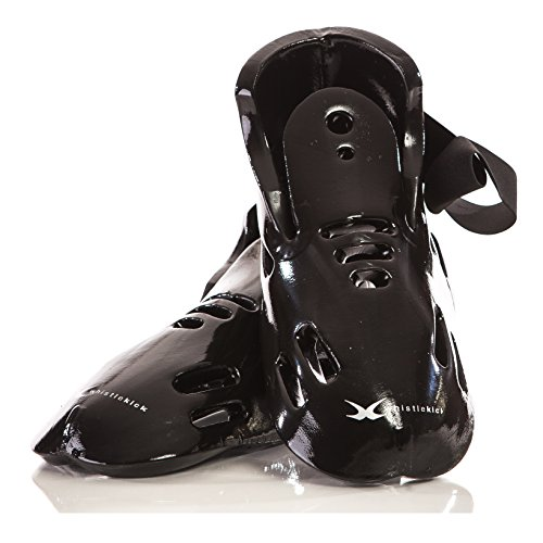 whistlekick Karate Sparring Gear Set of Boots - Premium Includes FREE Backpack - Martial Arts Sparring Gear Taekwondo Sparring Gear Set. Martial Arts Equipment Kickboxing Foot Gear. for Adults & Kids