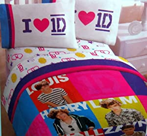 one direction twin comforter and sheet set one direction bedding. Black Bedroom Furniture Sets. Home Design Ideas