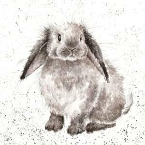 Birthday / Blank Artist Card (WRE0193) Rosie Rabbit : Office Products