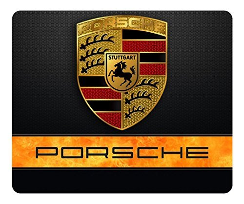 Customized Rectangle Rubber Mousepad Porsche Car Logo High Quality Water Resistent Oblong Soft Gaming Mouse Pads