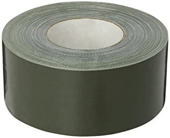 Nashua 357 Polyethylene Coated Cloth Premium Duct Tape, 55m Length x 72mm Width, Olive Drab