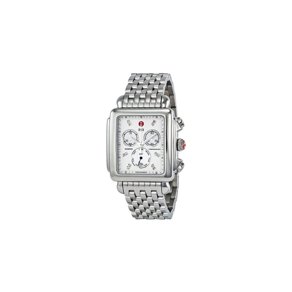 9d33b28a863e3c Michele Deco XL Diamond Chronograph Mother of Pearl Stainless Steel Ladies  Watch MWW06Z000012