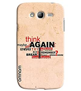 Omnam Motivational Quote Printed Designer Back Cover Case For Samsung Galaxy Grand