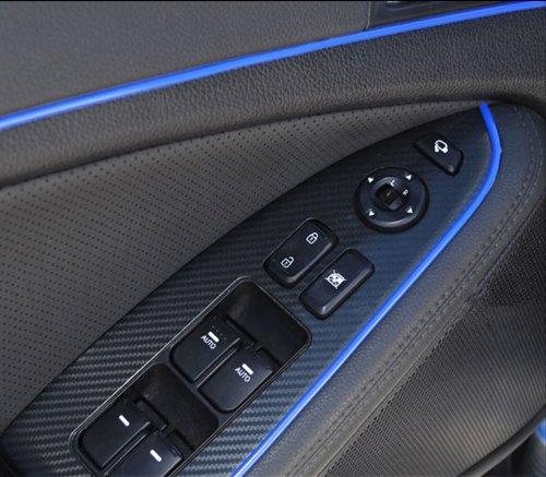15Meter 3D DIY Automobile Car motor Interior Exterior Decoration Moulding Trim Strip line Sticker-Blue image