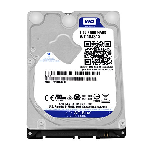 WD(ウエスタンデジタル)  内蔵SSHD Blue SSHD 1TB 2.5inch SATA3.0 64MB 8GB MLC WD10J31X