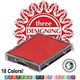 Three Designing Women Ink Cartridges / 5-Pack (Mix and Match) / 18 Colors / Square Pads / 'Shiny' Brand / Model S-542-7 / Fits TDW Changeables Stamper
