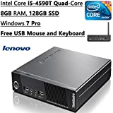 Newest Lenovo Think Centre M93P Flagship High Performance Tiny Desktop| Intel Core I5-4590T Quad-Core| 2.0 GHz...