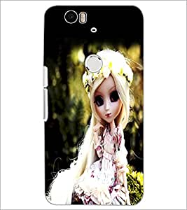 PrintDhaba Cute Doll D-1042 Back Case Cover for HUAWEI NEXUS 6P (Multi-Coloured)