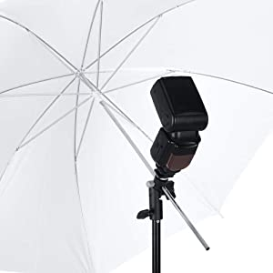 SH Camera Flash Universal E-Type hot Shoe Bracket Light Umbrella Stand, can be Installed with Flash, Reflective Umbrella, Tripod, etc. (1 Pack) (Tamaño: SH034)