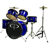 GP55 BLUE 5 Pc Complete Junior Drum Set
