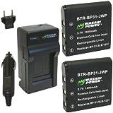 Wasabi Power Battery and Charger Kit for Sigma BP-31, DP1, DP1s, DP1x, DP2, DP2s, DP2x