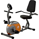 Home Gym Recumbent Exercise Bike, tightening knob, Seat adjusts, magnetic, time